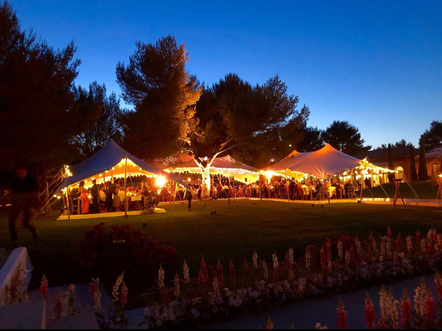 mariage event chapiteau soirée